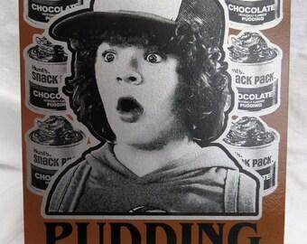 Stranger Things Dustin Pudding 8x10 Screenprinted Panel