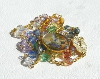 Archangel Michael Angelic Crown Chaplet of Saint Michael Handmade Pastel Rosary