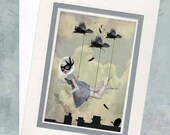 Surreal Greeting Card - Pop Surrealism - Art Greeting Card - Blank Card - Along For The Ride