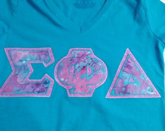 Greek Shirts, Made to order with your Sorority or Fraternity Greek Letter