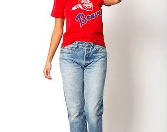 The Vintage Atlanta Braves Baseball Jersey Tee TShirt