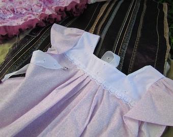 Pale Purple Sundress, Kids' Summer Dress, Size 3 - 4