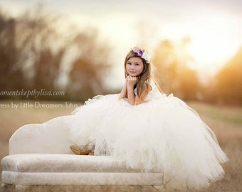 NEW! The Juliet Dress in Ivory - Flower Girl Tutu Dress