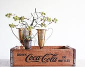 Vintage Coke Crate / Industrial Decor / Urban Farmhouse / Wooden Coca-Cola Crate