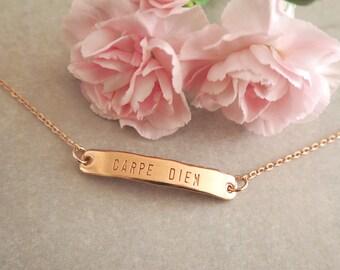 Carpe Diem ~ Rose Gold Bracelet