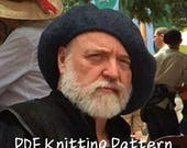 PDF Knitting Pattern, Scottish Highlands Tam, Scottish Bonnet Beret, Hand knit, hand felted