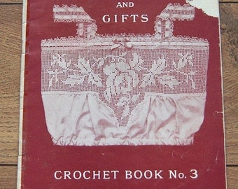 Vintage early 1900s   crochet book no. 3 Anne Orr yokes and gifts bibs collars