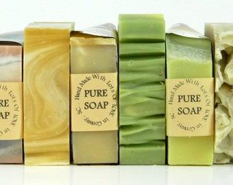 Bulk Handmade Cold Process Soap / 9 Bar Soap Set / Wholesale Soap