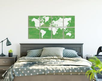 Extra Large World Map - Extra Large Wall Art - Large Living Room Art - Large Wood Map - Wood Wall Map - World Map Wall Art - Traveler Gift