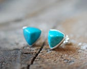 Amazonite Pointed Geo Studs
