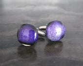 Wedding Cufflinks, Purple cufflinks, glass cufflinks, Cuff Links, Cufflink, Cuff Links, Cufflinks, Mens Accessories, groomsman gift