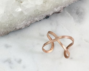 Copper Infinity Ring   Adjustable   R11628