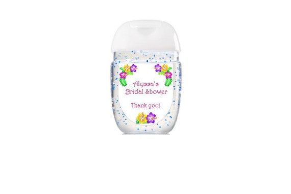 Hand sanitizer labels bath body works new design for Hand sanitizer bridal shower favors