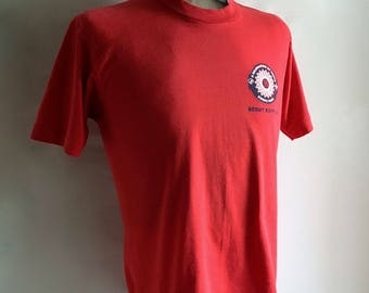 Vintage Men's 90's Scouts Expo, T Shirt, Red, Short Sleeve (M)