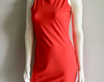 Vintage Women's 80's Unworn, Esprit Sportiv, Red Mini Dress (M)