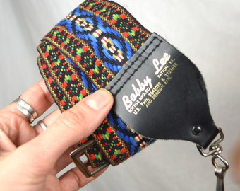 RARE Vintage Boho Woven Guitar Camera Straps - Bobby Lee - US Patent 2643039 Sottile MFG Co.