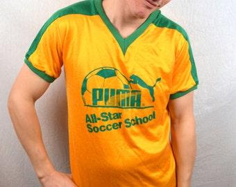 Vintage 80s Puma USA Soccer All Stars Tshirt Tee Shirt