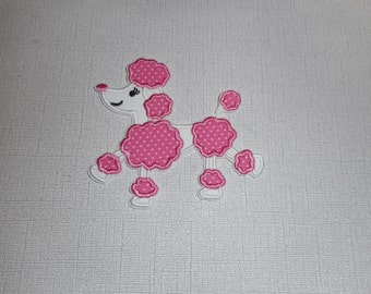 Free Shipping Ready to Ship Poodle fabric iron on applique