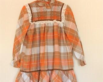 Plaid Harvest Dress- Girls' size 5