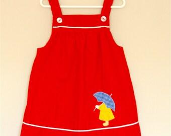Rainy Day Corduroy Jumper Dress- Girls' size 6