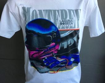 Laguna Seca Raceway 1996 vintage tee shirt size large - Monterey California