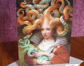 Greeting Card - Contessa with Squid