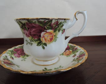 Royal Albert Old Country Rose  Tea Cup And Saucer
