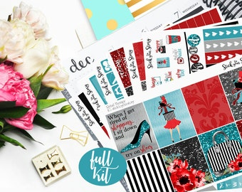 Retail Therapy Full Weekly Planner Vertical Student Sticker Kit Glossy - Stick to Your Story