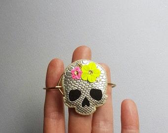 Floral Skull Bracelet no. 2