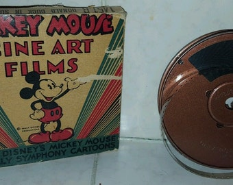 Mickey Mouse Cine Art Films 16mm Disney Cartoon 1451-B Donald Duck Super Service