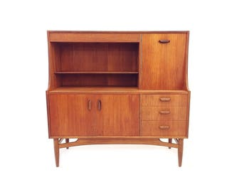 Vintage Danish Modern Wall Unit In Teak