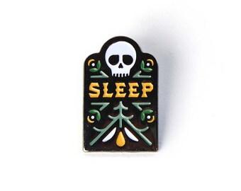 Sleep - Soft Enamel Pin w/ Black Rubber Pin Clutch