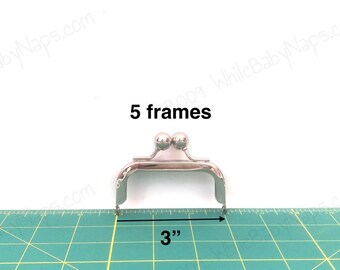 5 of 3x1.5 nickel metal coin purse frames