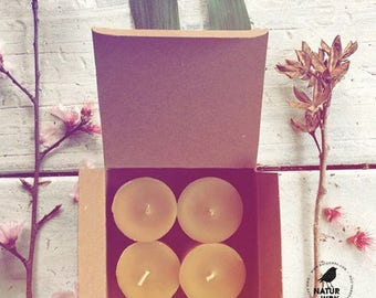 Votive Candles - Four pack - beeswax candles - Votives - pure beeswax - home decor