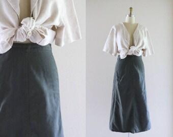 slate green utility skirt / m