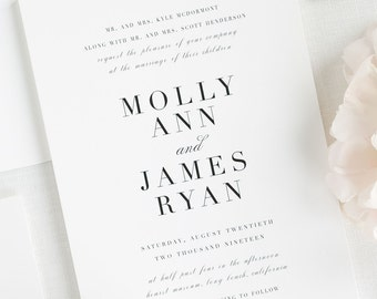 Serif Romance Wedding Invitation - Sample