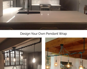 5 Pendant Light - Wrap a pipe or bar modern chandelier - Industrial pendant l& - : bar pendant lights - azcodes.com