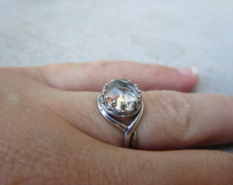 Crystal Quartz Ring in Sterling Silver SIZE 6