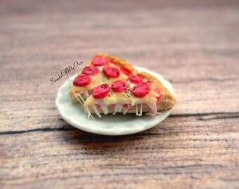 Pizza Earrings - Stud Earrings - Pepperoni Slice Pizzas - Food Jewellery - Handmade in UK with Polymer Clay