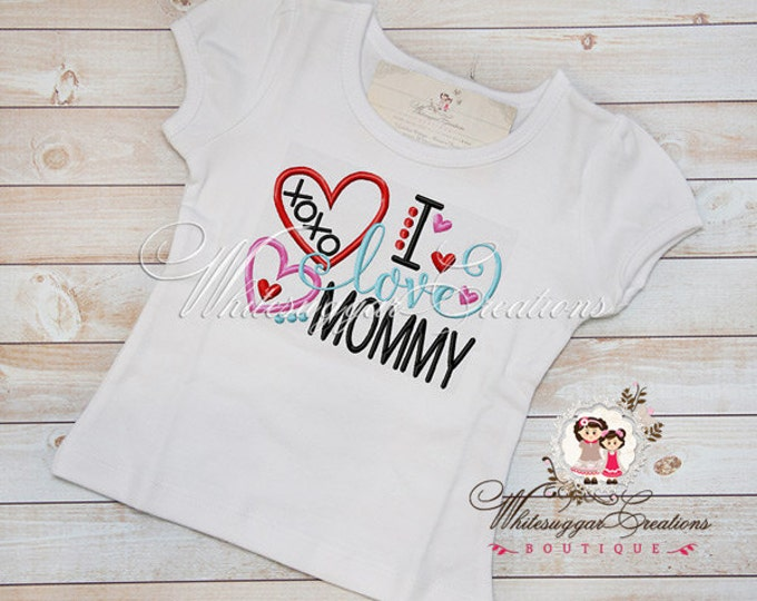 I Love Mommy Shirt - Custom Shirt Baby Outfit - Baby Girl Mother's Day Shirt - Sample Sale
