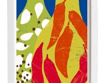"Kitchen print infused Oils  - 11""x15"" - archival fine art giclée print"