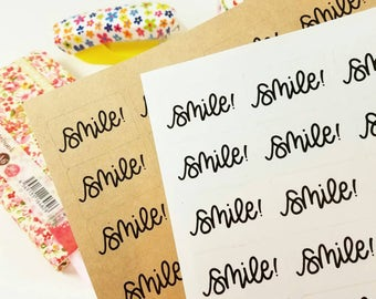 Shop Exclusive - smile! hand lettered stickers