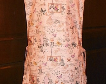 Awesome Kitchen Cobbler Lined Apron Smock Paris 1889 Handmade for Kitchen Cooking Craft Activities Excellent Clothes Protector