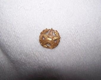 Gold Cross Star Missonary C Clasp Pin Brooch