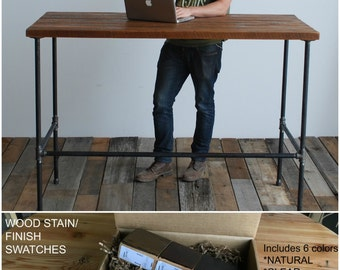 Standing Desk Made With Reclaimed Wood And Iron Pipe Legs. Custom Designs  Welcome. Choice