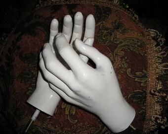 Vintage Handsome Mannequin/Santos Life Size Hands Store Display Salvaged Display Props.