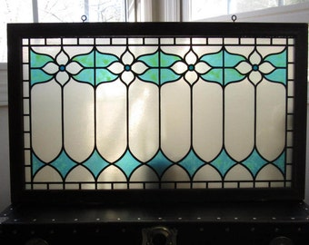 70s Stained Plastic Glass Frame, Lightweight Stained Glass Hanging