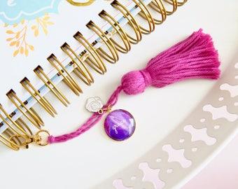 grace planner tassel clips, planner charm, gold tassel keychain, purse tassel charm, tassel handbag charm, 2017 planner agenda, easter gift