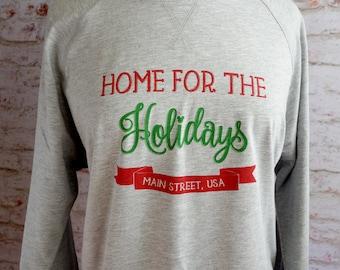 Home for the holidays, disney christmas sweatshirt, disney sweatshirt, main street usa, i'll be home for christmas, disney vacation shirt