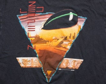 1988 Led Zeppelin T-Shirt, Winterland, Zoso, Futuristic Desert Graphic Tee, Vintage 80s, Classic Hard Rock, Heavy Metal